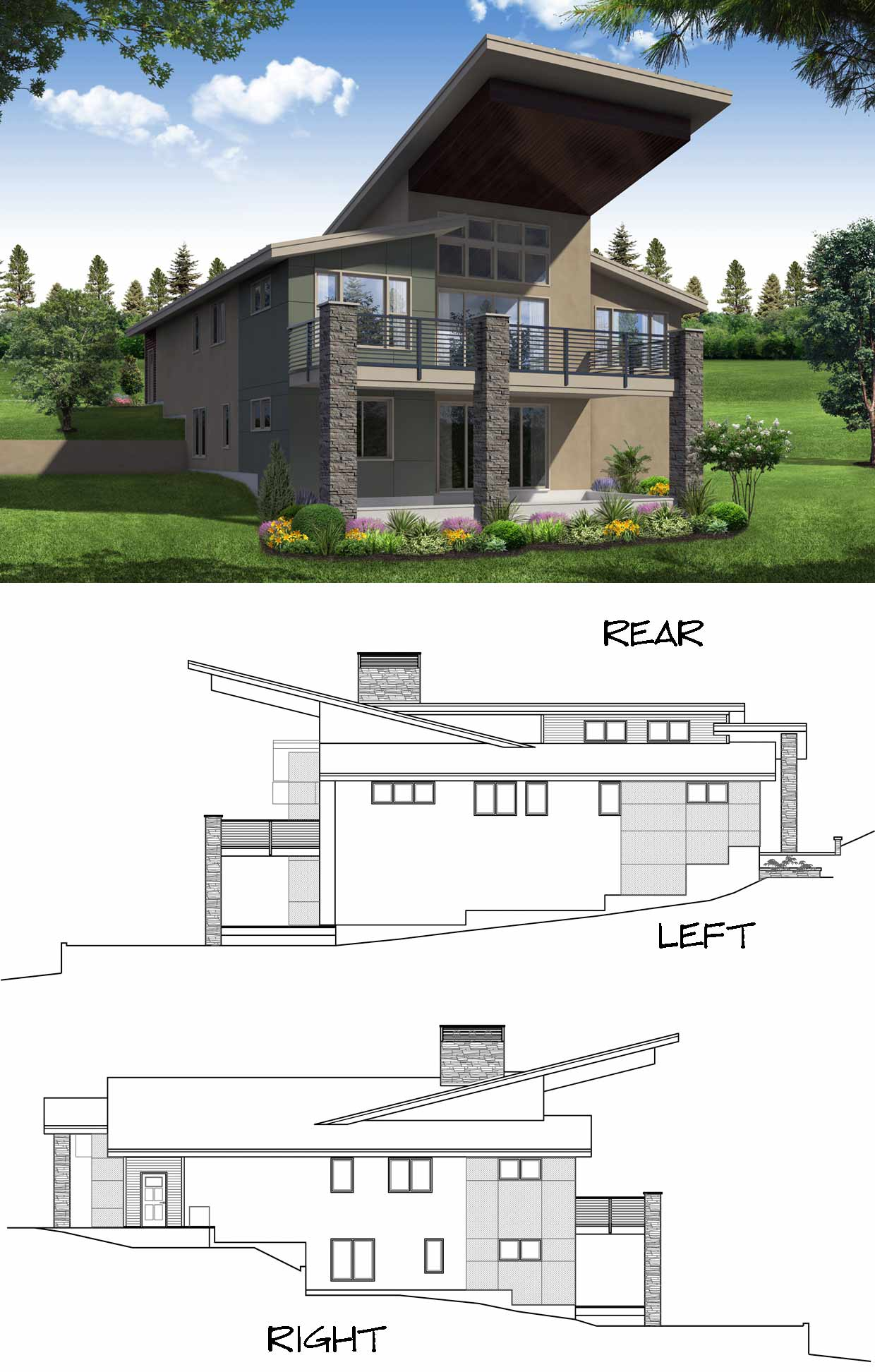 Rear Elevation Plan: 17-1010