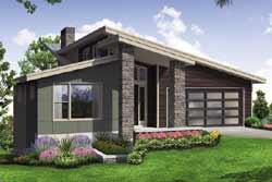 Modern Style Home Design Plan: 17-1010