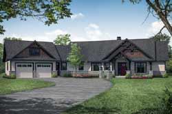 Craftsman Style Home Design Plan: 17-1012