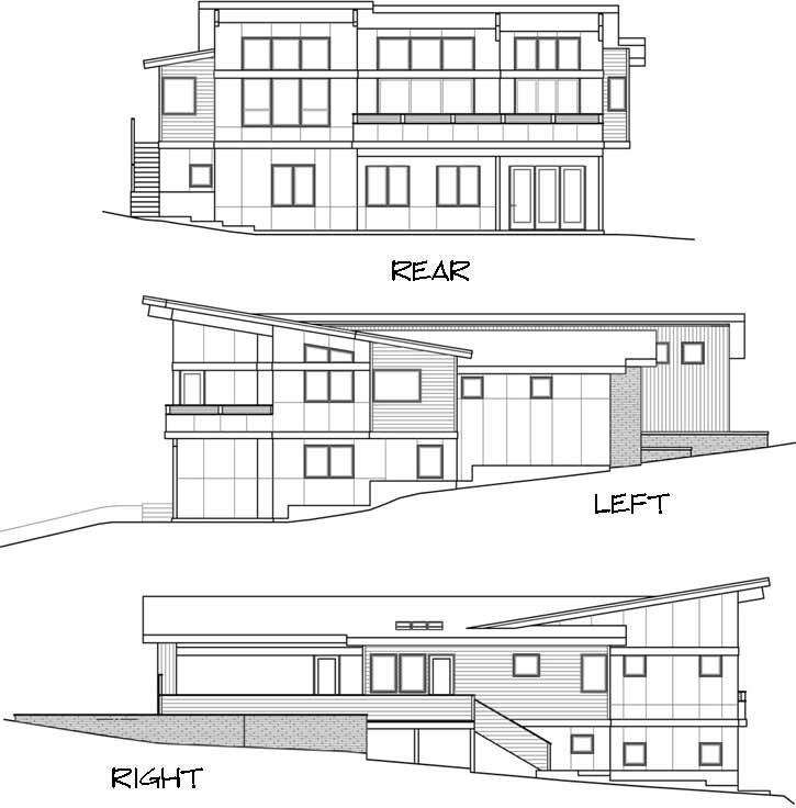Rear Elevation Plan: 17-1015