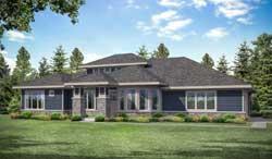 Prairie Style Floor Plans Plan: 17-1023