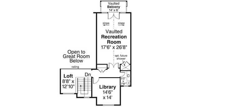 Upper/Second Floor Plan: 17-1031