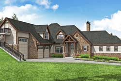 European Style Home Design Plan: 17-1035