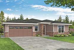 Prairie Style Home Design Plan: 17-1037