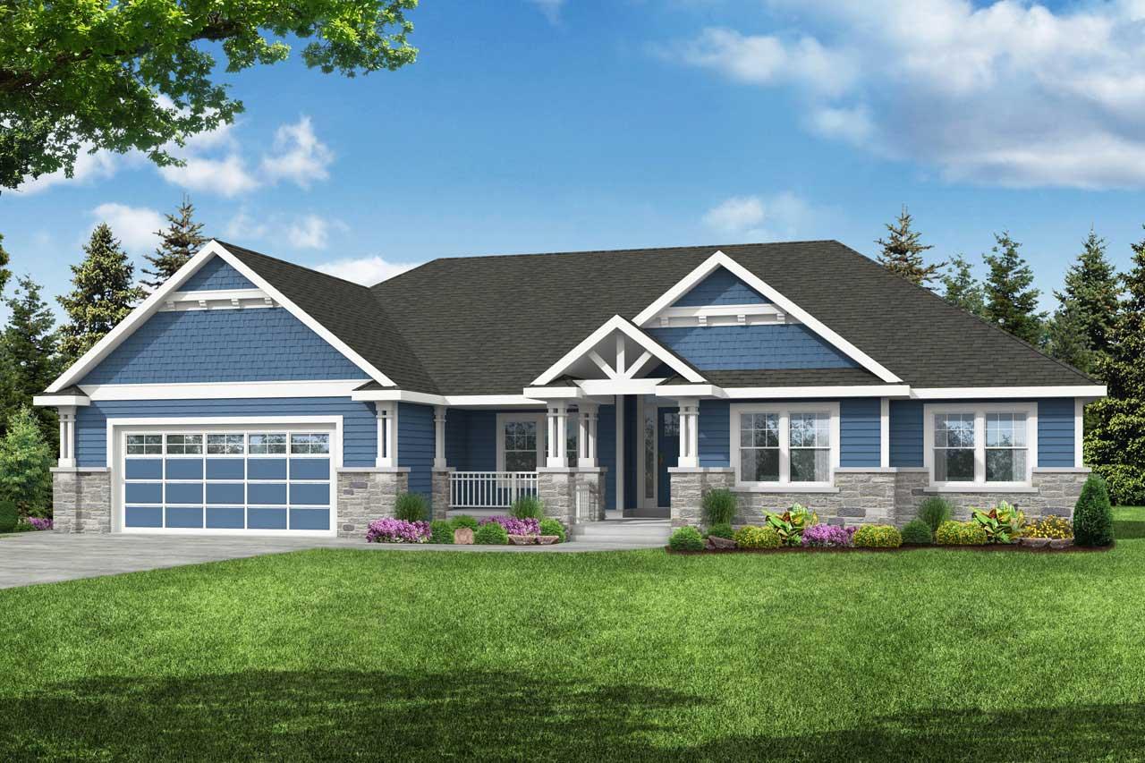 Craftsman Style House Plans Plan: 17-1045