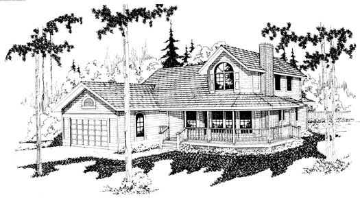 Northwest Style Home Design Plan: 17-107