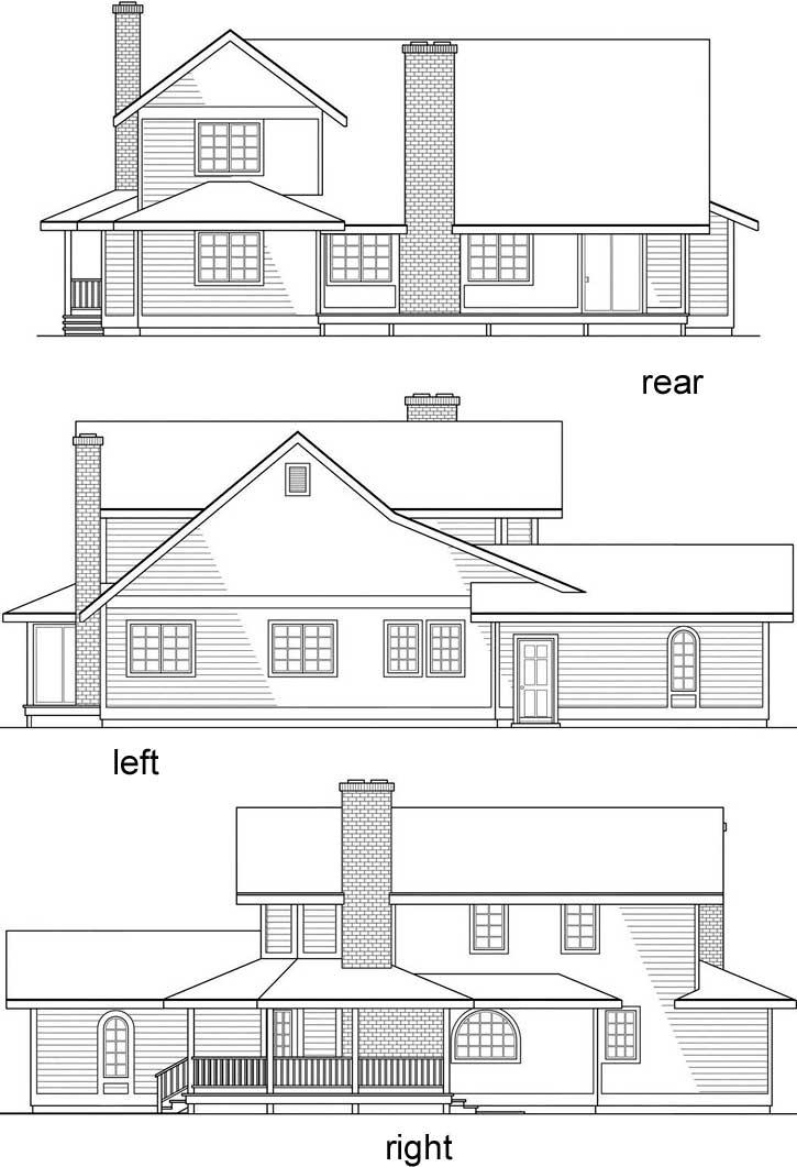 Rear Elevation Plan: 17-107