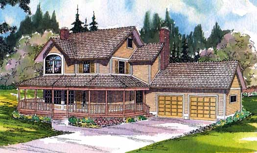 Country Style Home Design Plan: 17-112