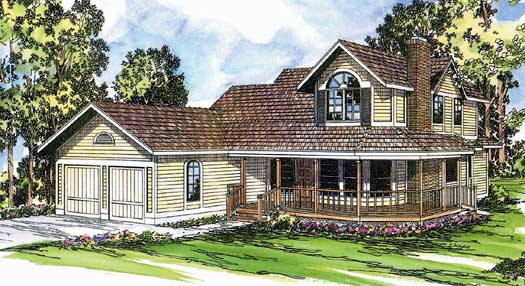 Country Style Home Design Plan: 17-114
