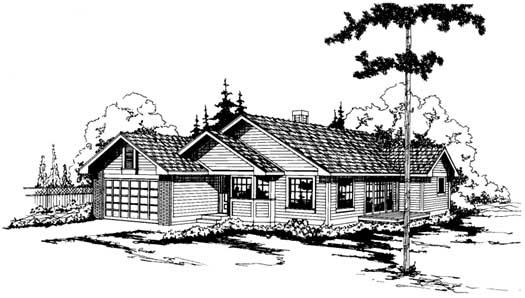 Northwest Style Home Design Plan: 17-117