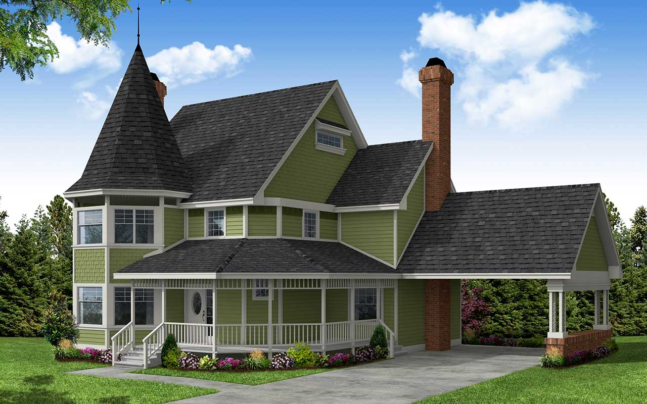 Victorian Style Floor Plans Plan: 17-118