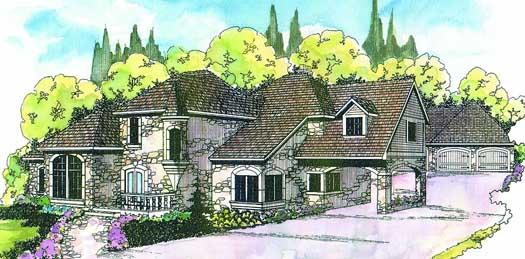 European Style Home Design Plan: 17-119