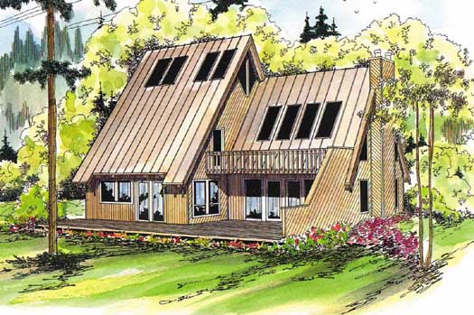 Contemporary Style Floor Plans Plan: 17-122
