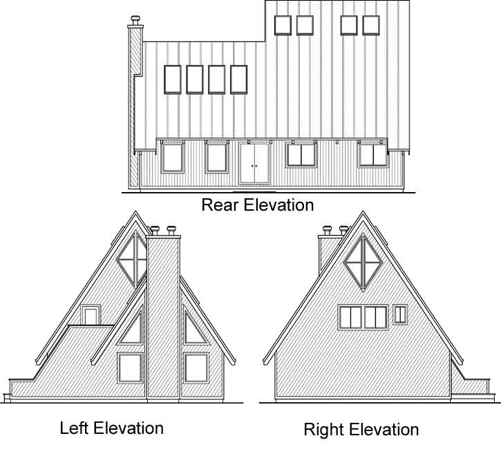 Rear Elevation Plan: 17-122