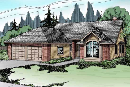 Northwest Style Home Design Plan: 17-125