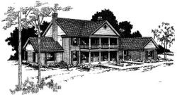 Plantation Style House Plans Plan: 17-128