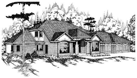 Traditional Style House Plans Plan: 17-130