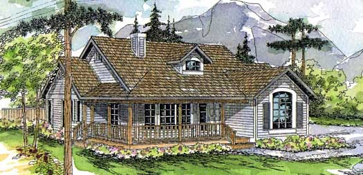 Country Style Home Design Plan: 17-131
