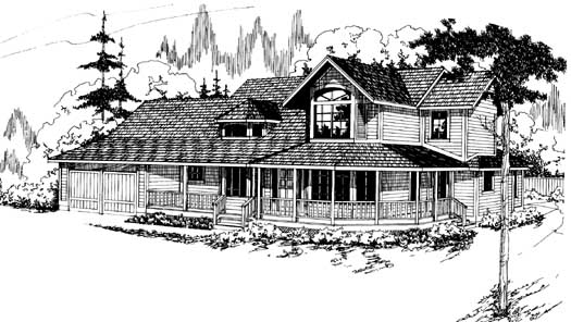 Country Style House Plans Plan: 17-132