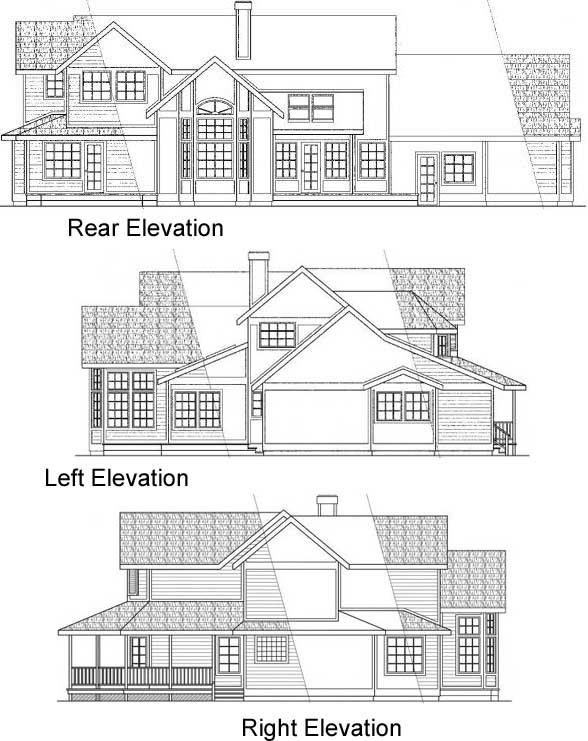 Rear Elevation Plan: 17-132