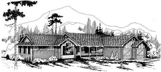 Ranch Style House Plans Plan: 17-134