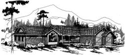 Ranch Style Home Design Plan: 17-134