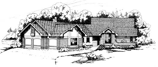 Ranch Style House Plans Plan: 17-138