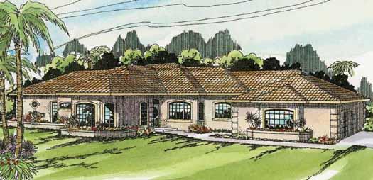 Mediterranean Style House Plans Plan: 17-139