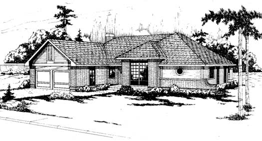 Northwest Style Home Design Plan: 17-144