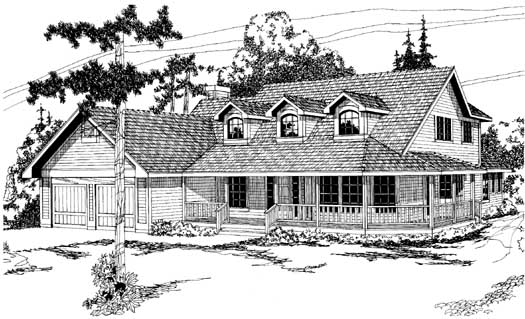 Farm Style House Plans Plan: 17-146
