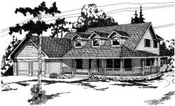 Farm Style Home Design Plan: 17-146