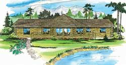 Log-Cabin Style House Plans Plan: 17-148