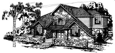 European Style House Plans Plan: 17-150