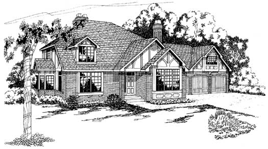 Tudor Style Floor Plans Plan: 17-152