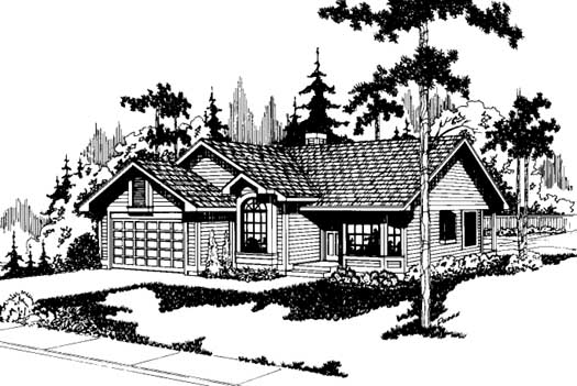 Traditional Style Home Design Plan: 17-153