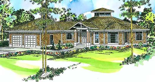 Cottage Style Home Design Plan: 17-154