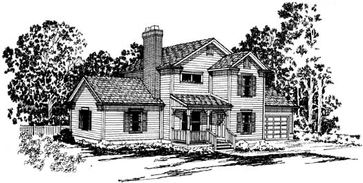 Country Style Floor Plans Plan: 17-155