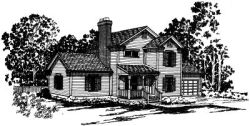 Country Style Home Design Plan: 17-155