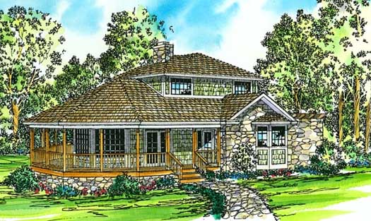 Country Style Home Design Plan: 17-157