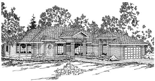 Traditional Style Home Design Plan: 17-158