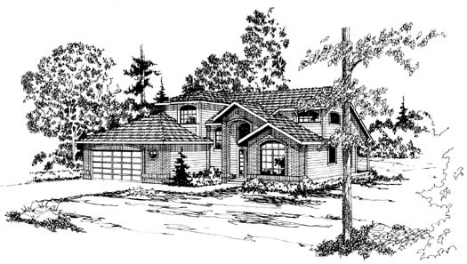 Northwest Style Home Design Plan: 17-160