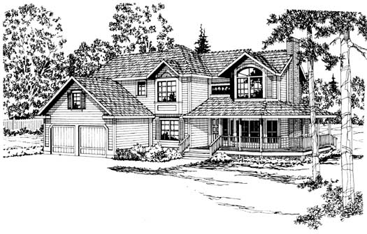 Country Style Home Design Plan: 17-161