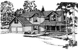 Country Style Floor Plans Plan: 17-161