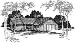 Traditional Style Home Design Plan: 17-163