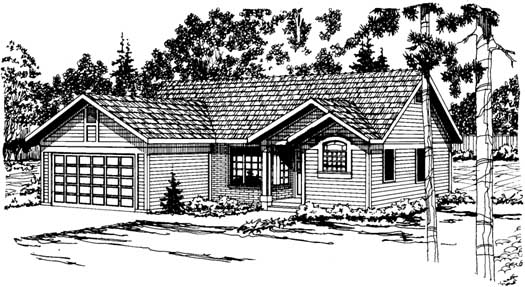Traditional Style Home Design Plan: 17-164