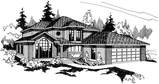Northwest Style Floor Plans Plan: 17-165