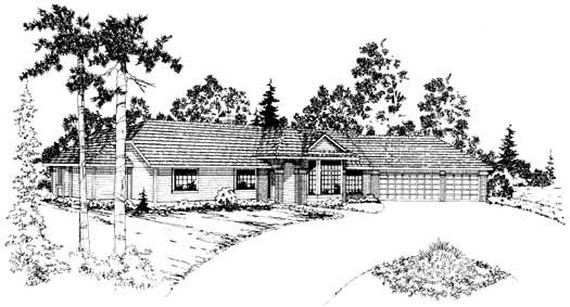 Ranch Style House Plans Plan: 17-166