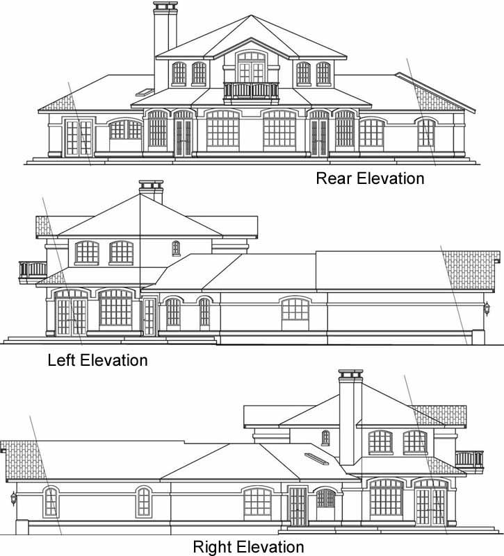 Rear Elevation Plan: 17-169