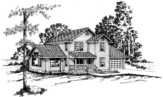 Country Style Home Design Plan: 17-170