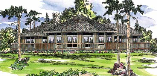 Contemporary Style House Plans Plan: 17-171